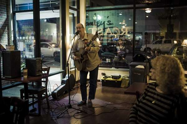 Hank Stone performs his original music at The