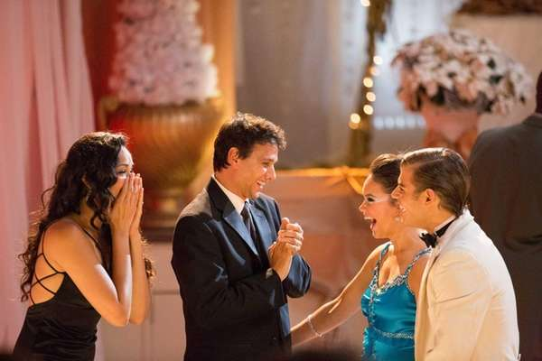 Karen Olivo, Ralph Macchio, Allie Bertram and Garrett