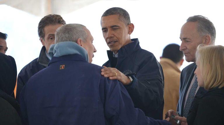President Barack Obama and Gov. Andrew Cuomo (left)