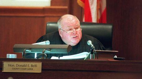 Former Nassau County Court Judge Donald E. Belfi,