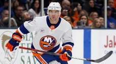 Andy Greene of the Islanders skates during the