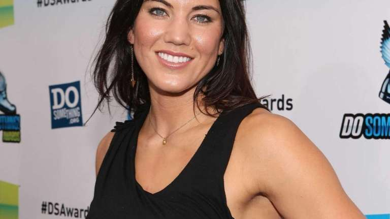Olympic soccer player Hope Solo arrives at the