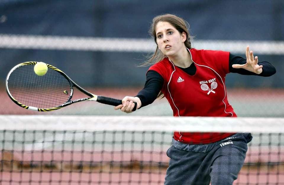 Half Hollow Hills East first doubles player Amanda