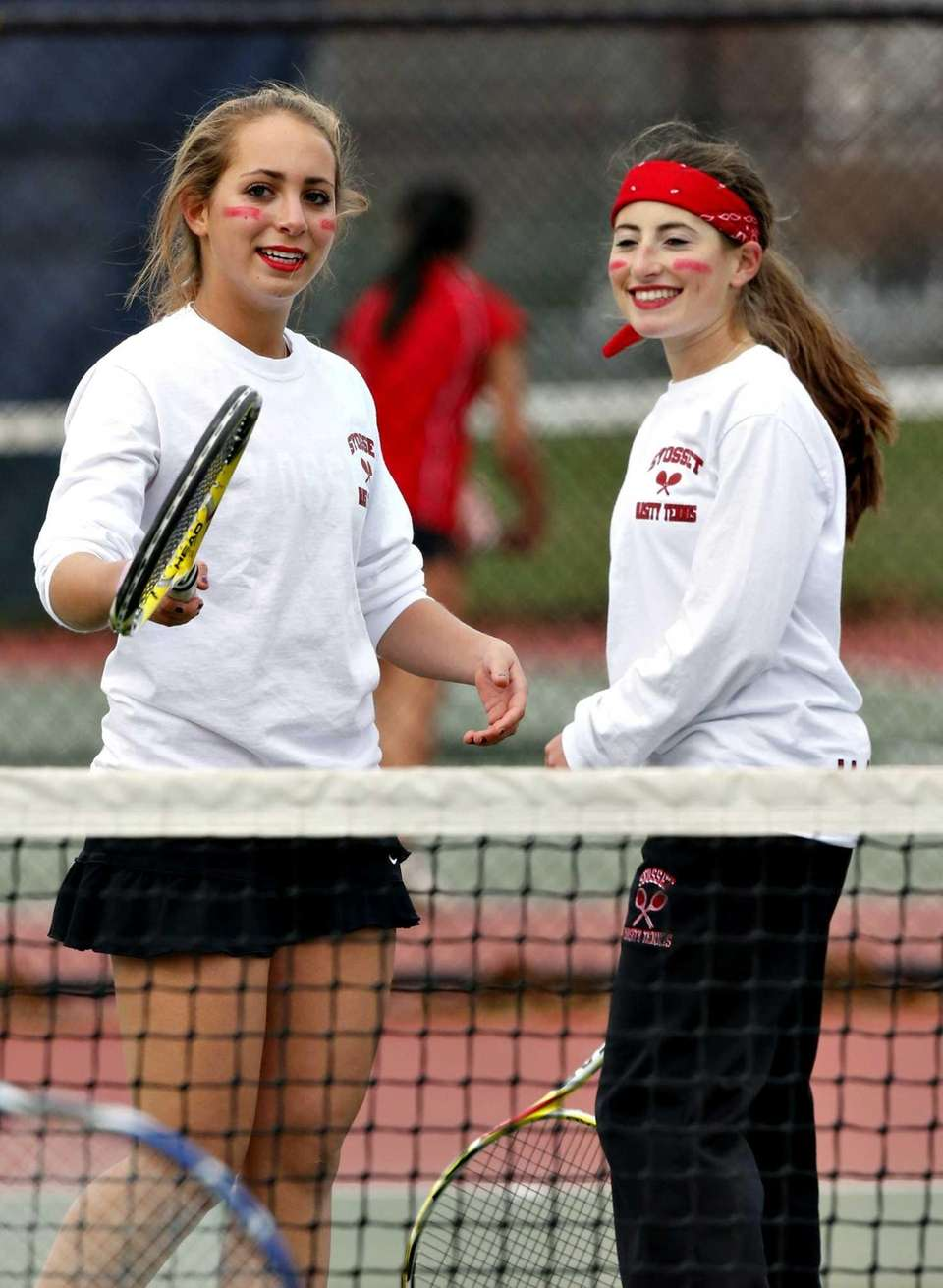 Syosset first doubles team of Joelle Porush, left,