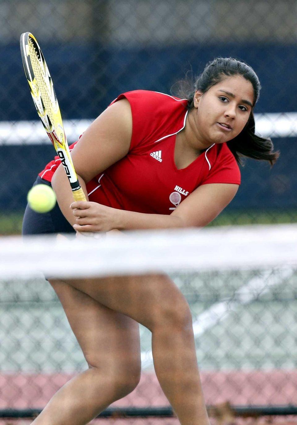 Half Hollow Hills East third doubles player Aikta