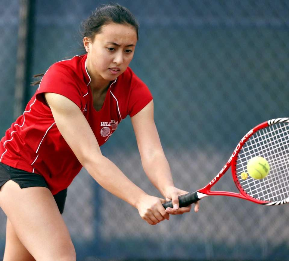 Half Hollow Hills East's first singles player Vanessa