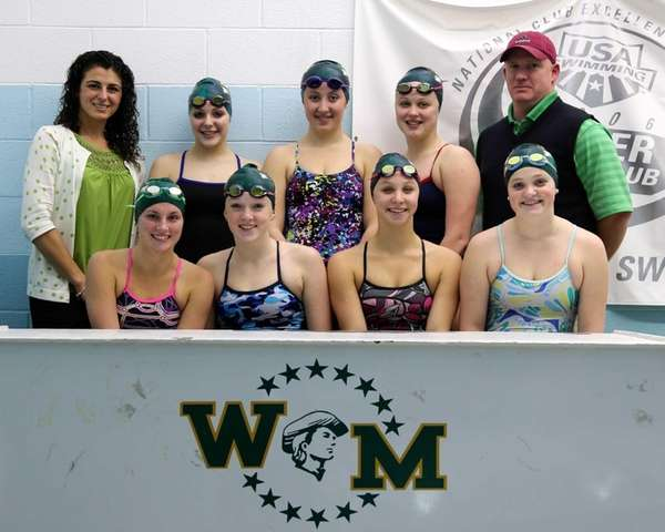 Suffolk County champions Ward Melville girls swim team