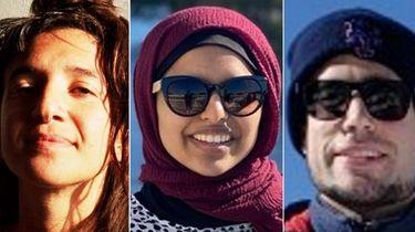 Navah Stein, left, Saira Amar and Jase Bernhardt,