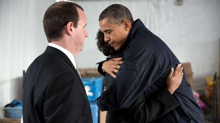 President Barack Obama meets privately with Damien and