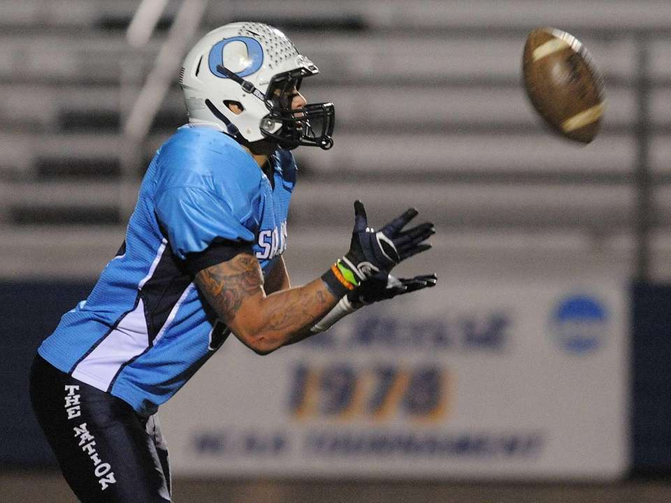 Oceanside's Justin Buckley prepares to return a kick