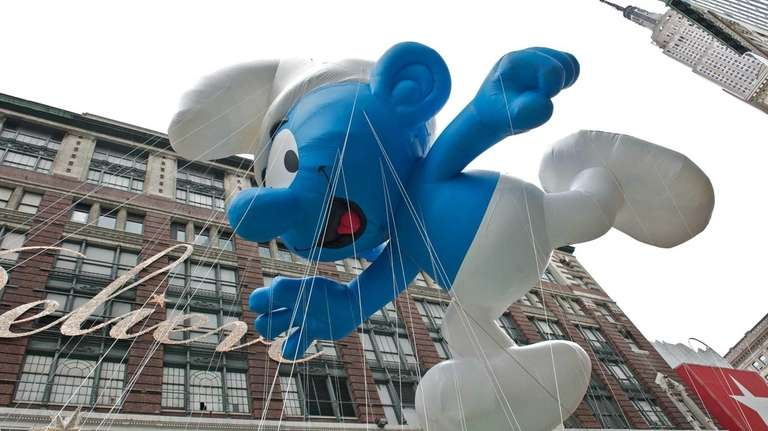 The popular Smurf balloon in the Macy's Thanksgiving