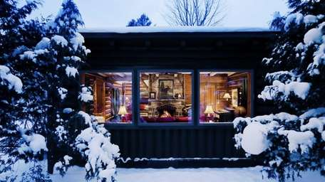 A rustic but luxurious resort, Lake Placid Lodge