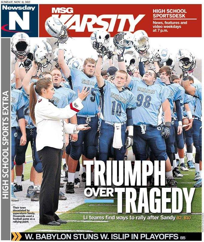 The front cover of Newsday's high school sports