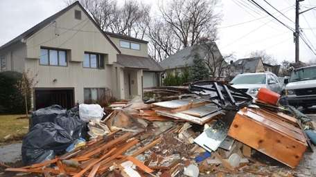 The front yard of a home on Lindbergh