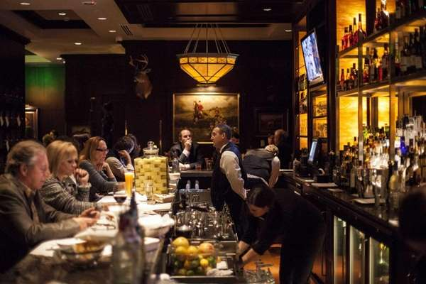 The Capital Grille features an impressive bar near