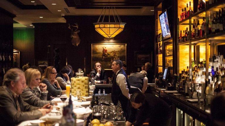 The Capital Grille features an impressive bar near