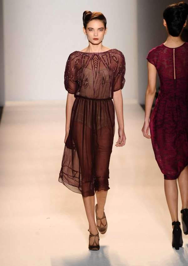 Oxblood tends to look great on everyone, says