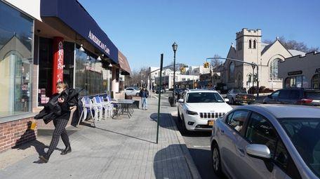 Stores on School Street in Glen Cove. Development