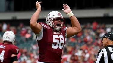 Matt Hennessy of the Temple Owls during a