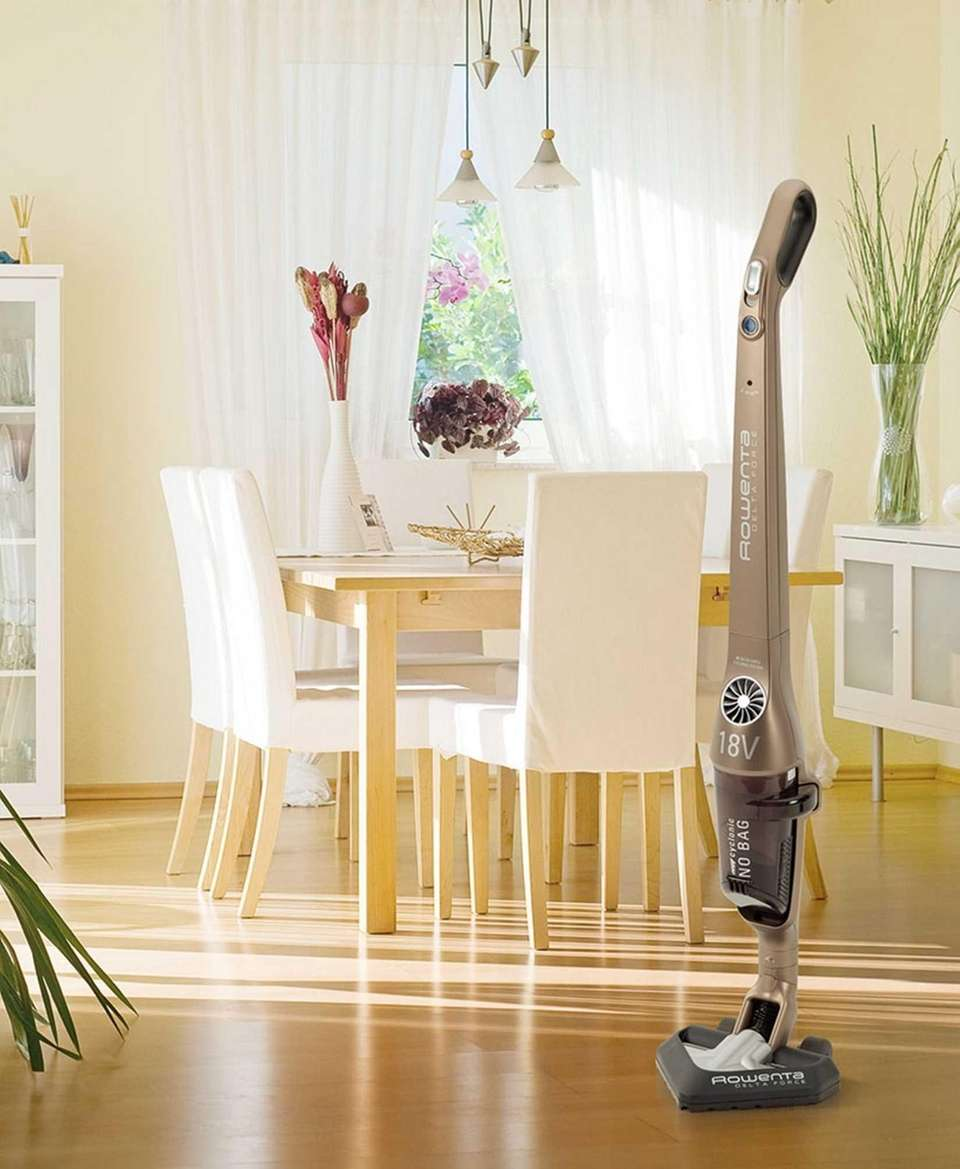 Rowenta's Delta Force Stick Vacuum This cordless, bagless