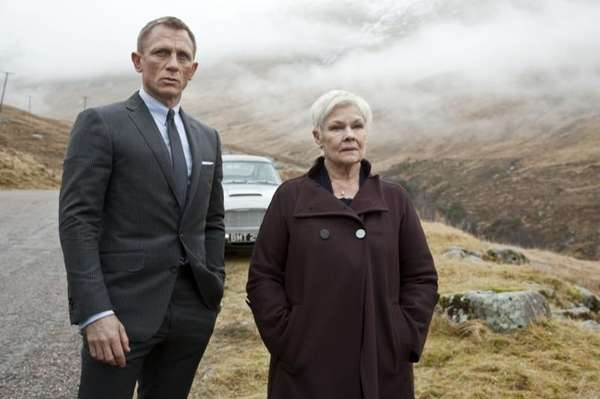 Daniel Craig as James Bond and Judi Dench