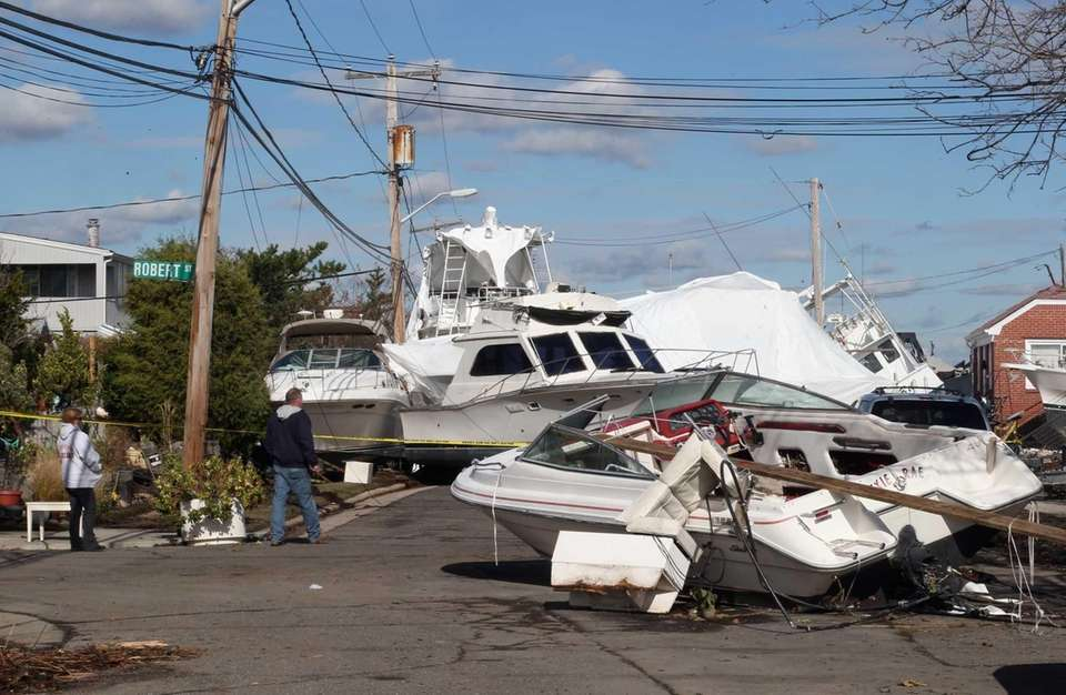 In the aftermath of Sandy, residents check out