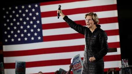 Democratic presidential candidate Sen. Elizabeth Warren, D-Mass., addresses
