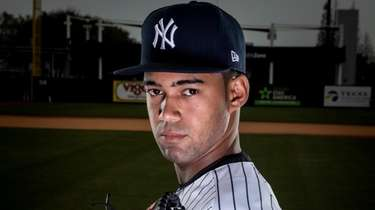 Yankees' pitcher Deivi Garcia during spring training in