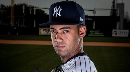 Yankees' pitcher Deivi Garcia during spring training in