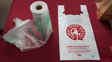 Plastic bags at FetPak Inc. in Commack that