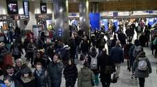 The scene at Penn Station for the Friday