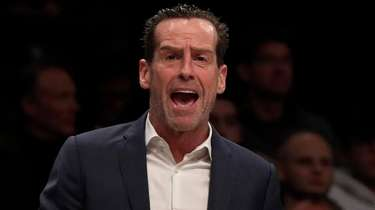 Nets head coach Kenny Atkinson reacts in the