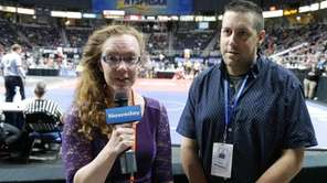 Newsday sports reporters, Laura Amato and Gene Morris,