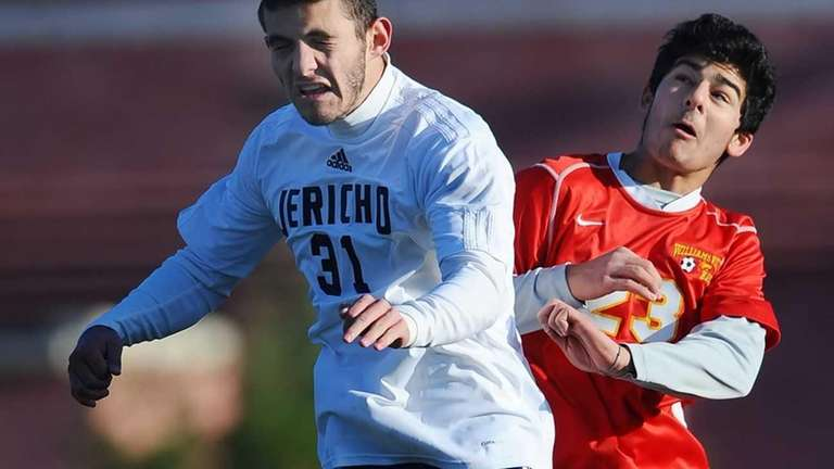 Jericho's David Orr, left, and Williamsville East's Vick