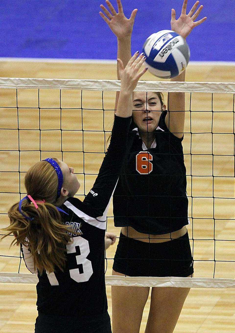 Babylon's Margot Zamet prepares for the block attempt