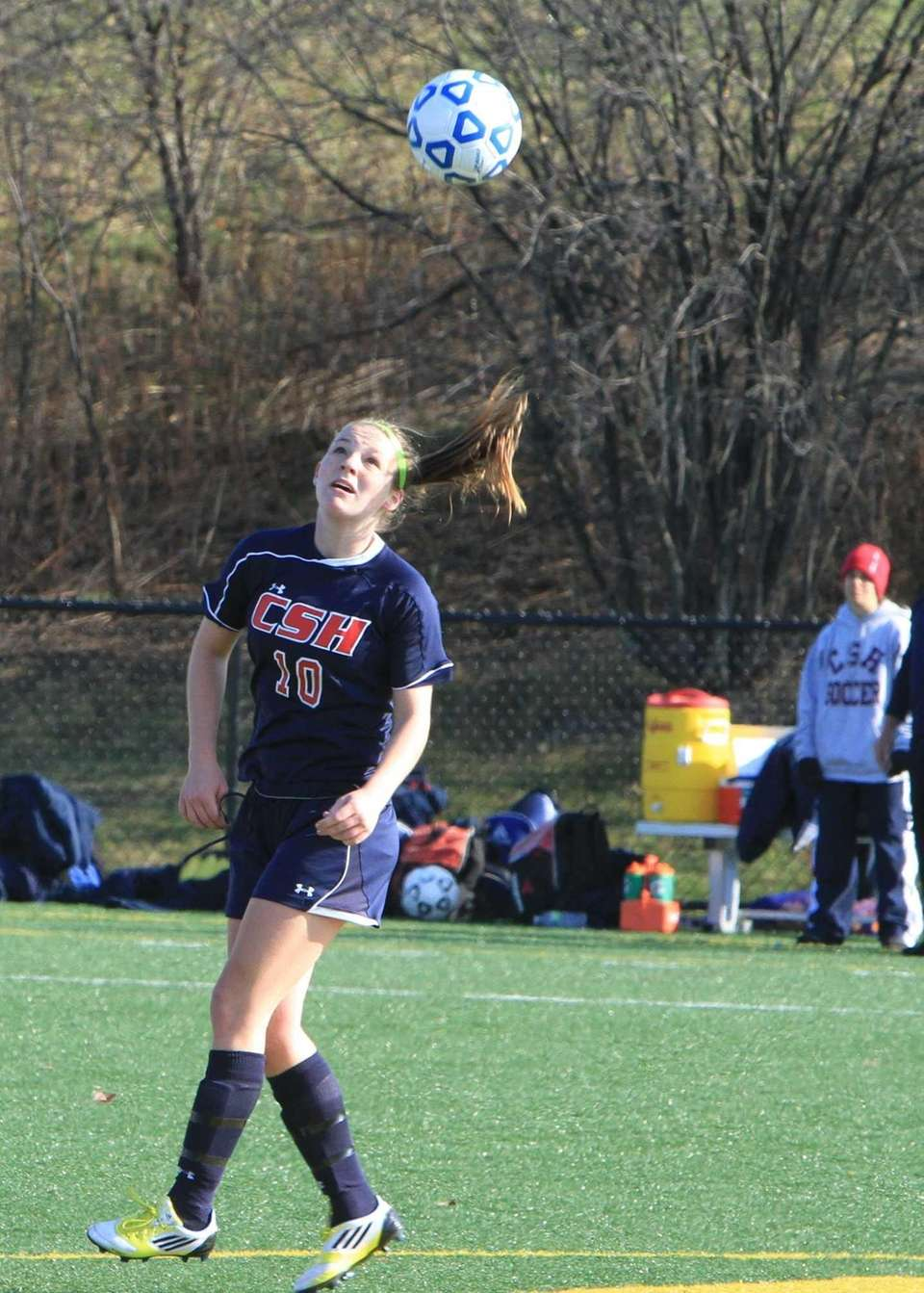 Cold Spring Harbor's Katherine Rueger looks for the