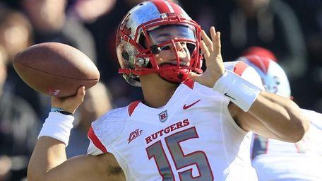 Rutgers quarterback Gary Nova passes against Cincinnati in