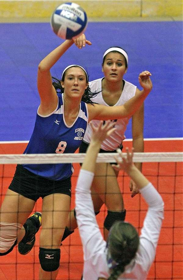 John Glenn's Jacklyn Malusa gets ball over the