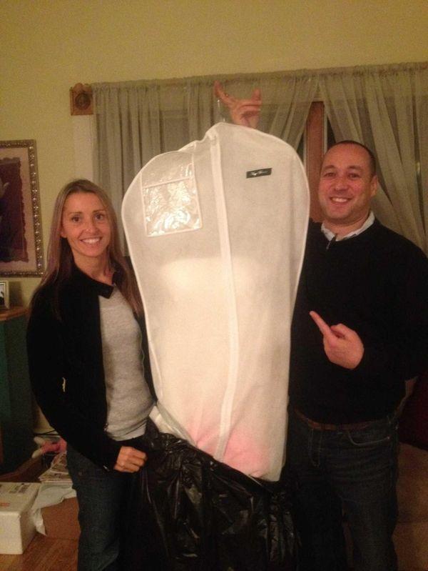 Lisa Seymour, 32, and Matt Cohen, 40, hold