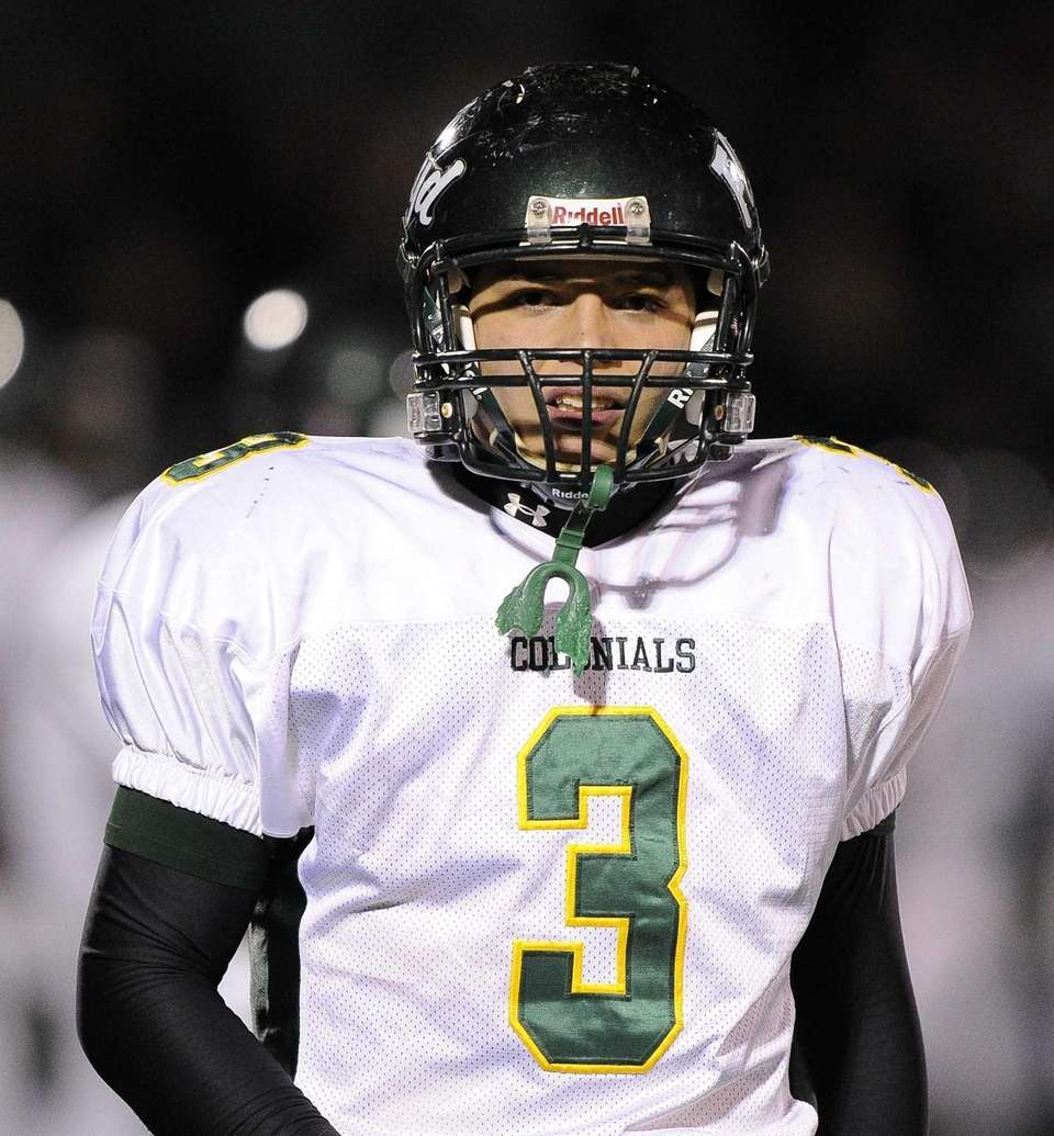 Floyd quarterback AJ Otranto is seen on the