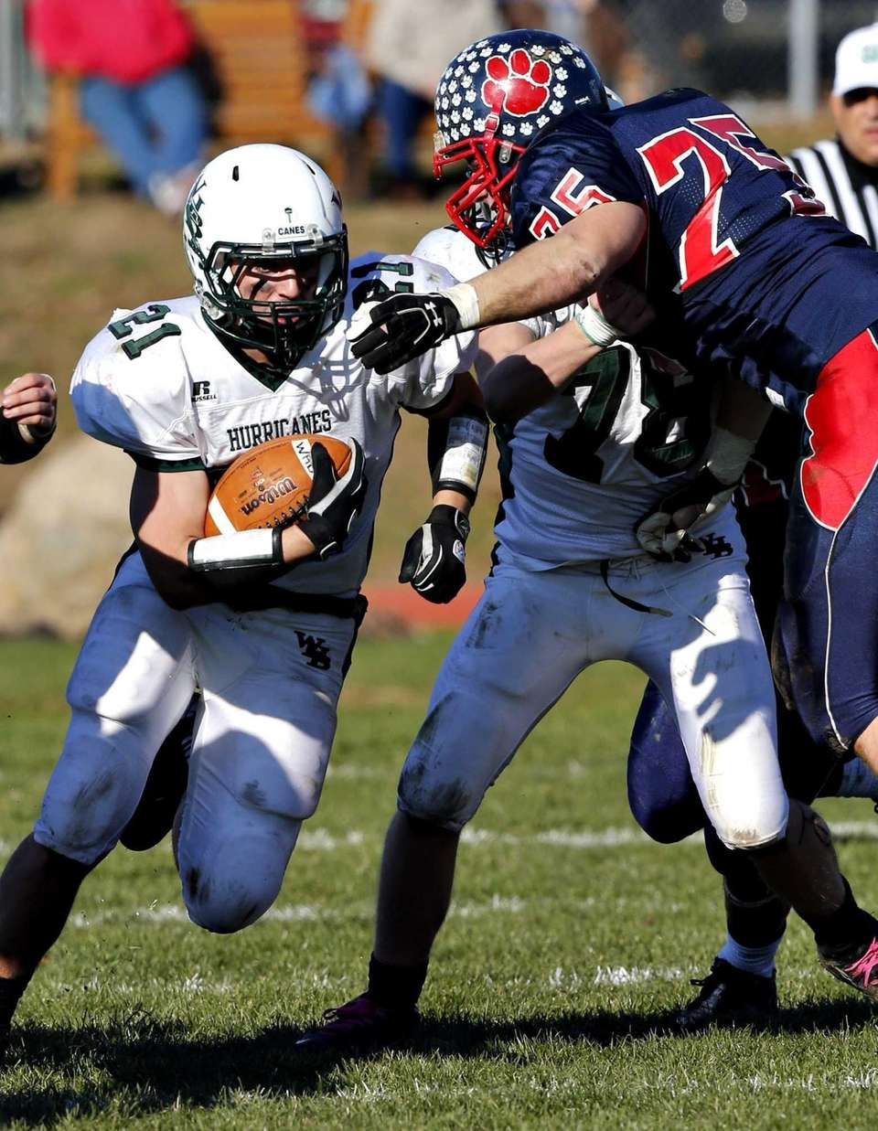Westhampton running back Evan Gagne finds a hole