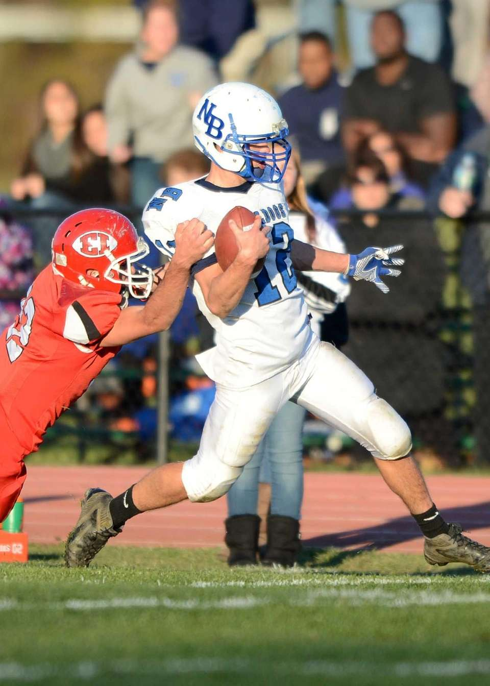 North Babylon's Jake Conner with a 27 yard