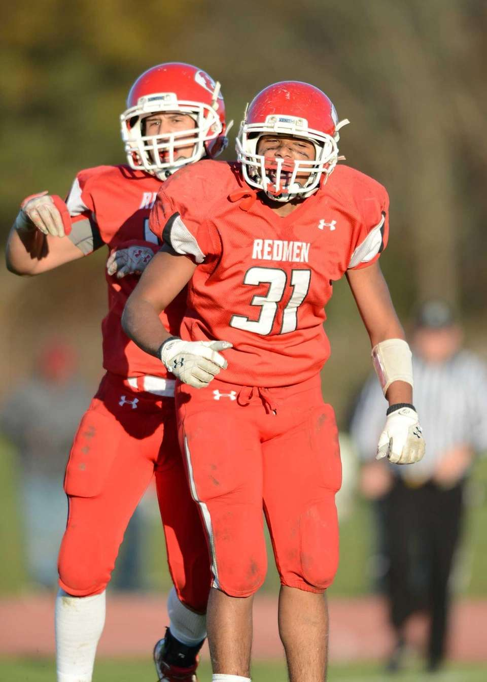 East Islip's Nick Osburn and Patrick Valoy celebrate