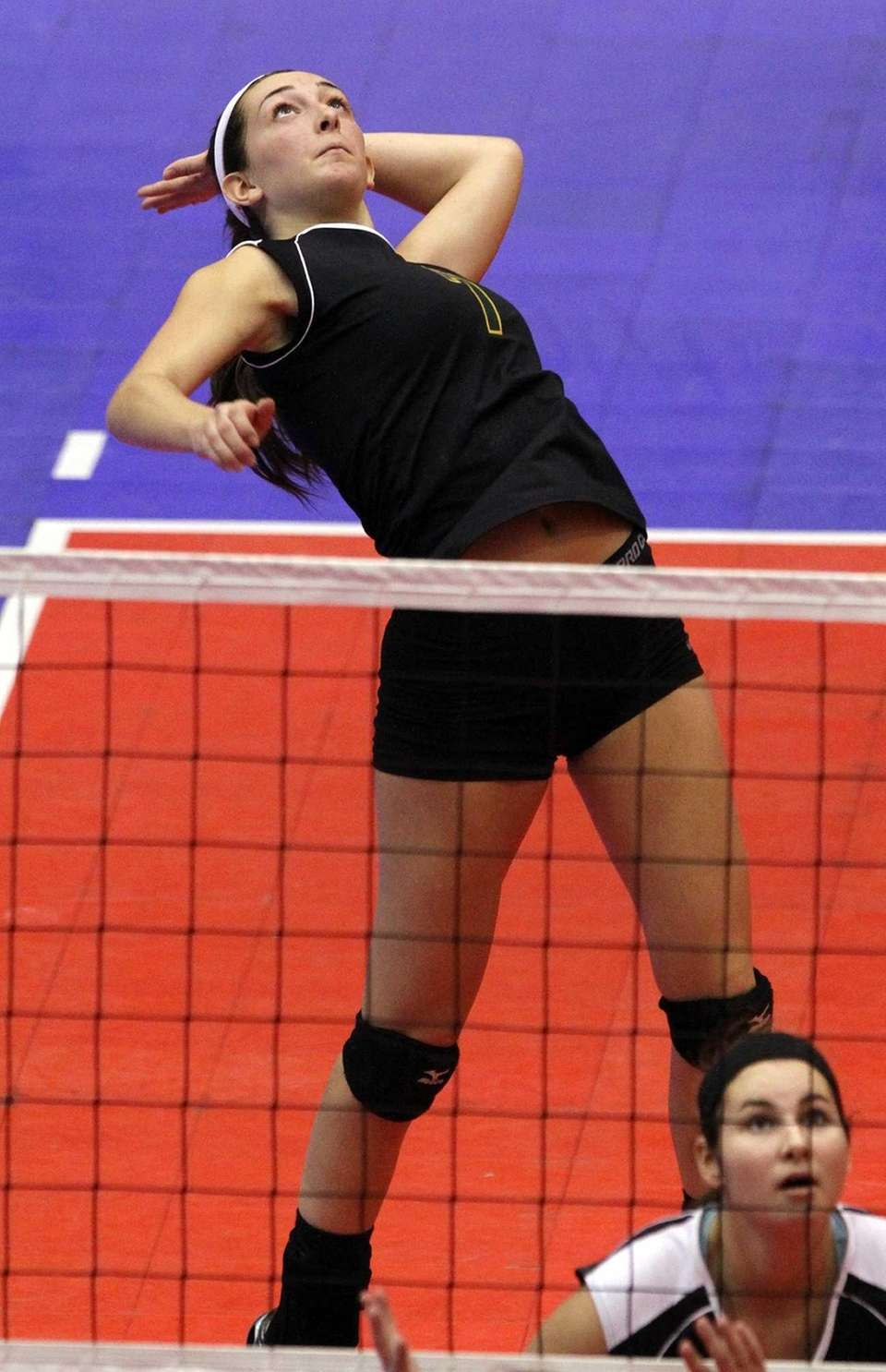 Ward Melville's Amanda DiGirolamo prepares to hit the