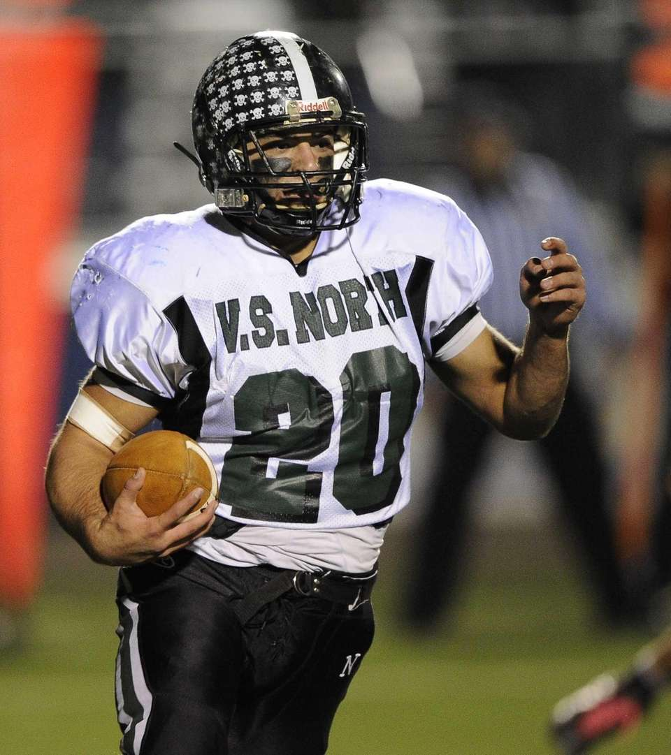 Valley Stream North's Bill Patsos runs the ball
