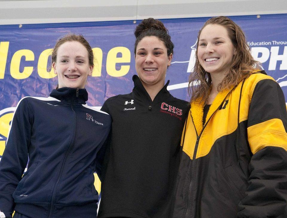 Katie Smith, Dina Rommel and Cari Stankaitis celebrate