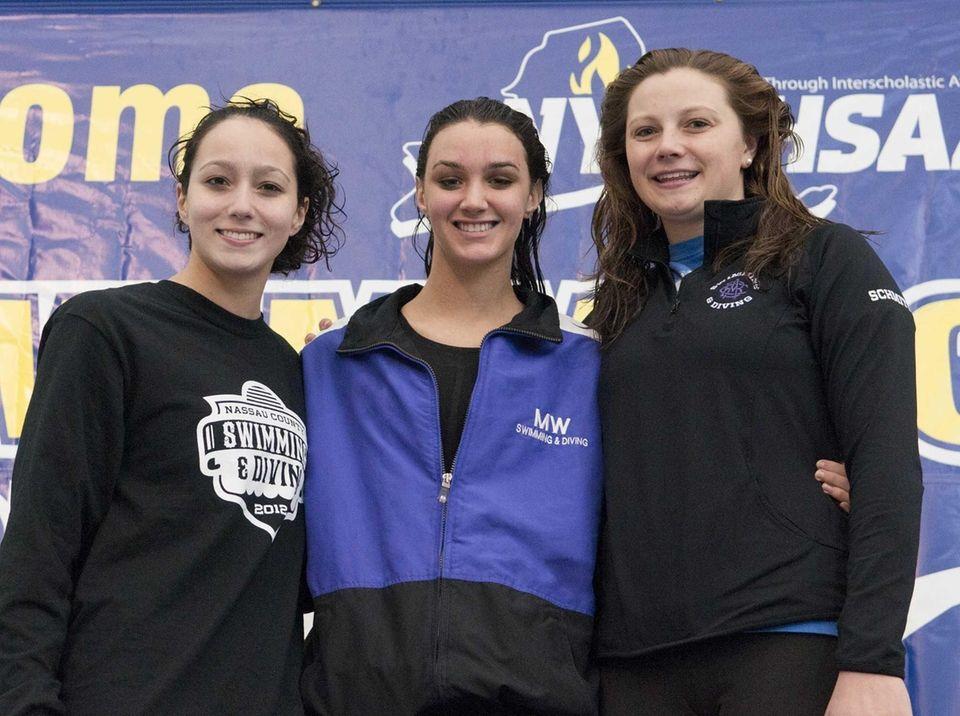 Gabbie Toback, Morgan Fairclough, and Summer Schmitt pose