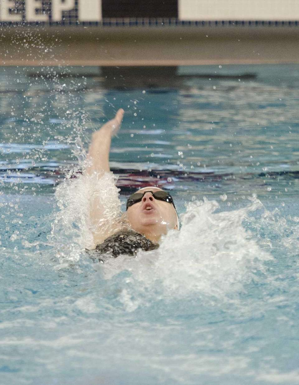 Northport's Nicole Papsco swims the backstroke leg of