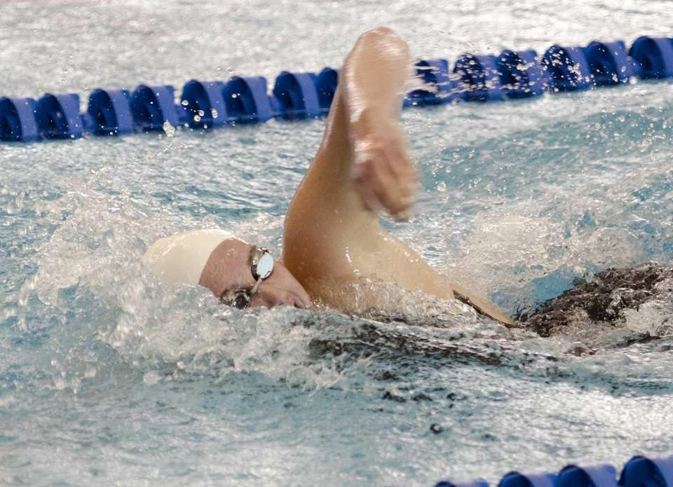 Massapequa's Molly Treble swims the 500 yard freestyle