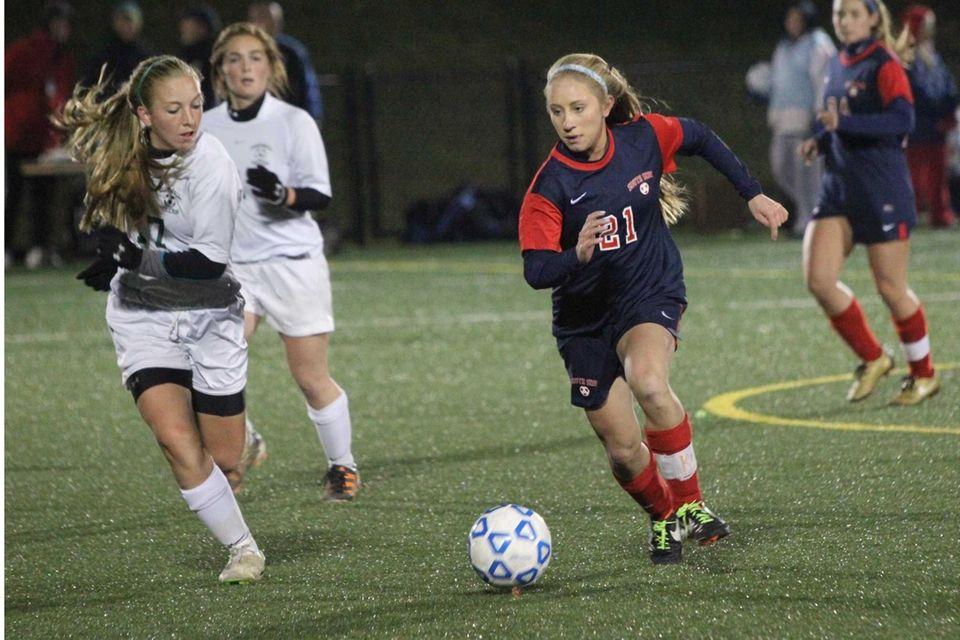 South Side's Christina Klaum races down the field